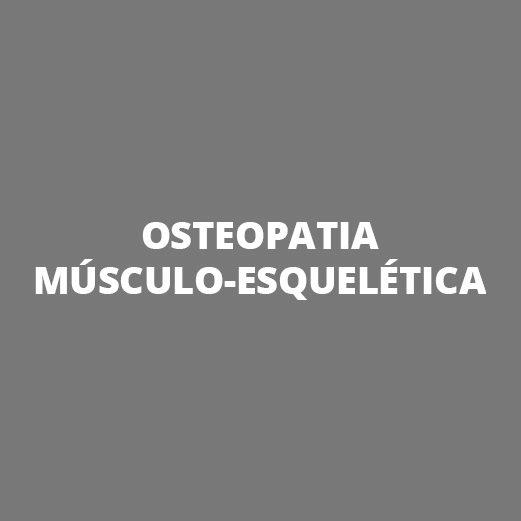 Especialidades - Osteopatia